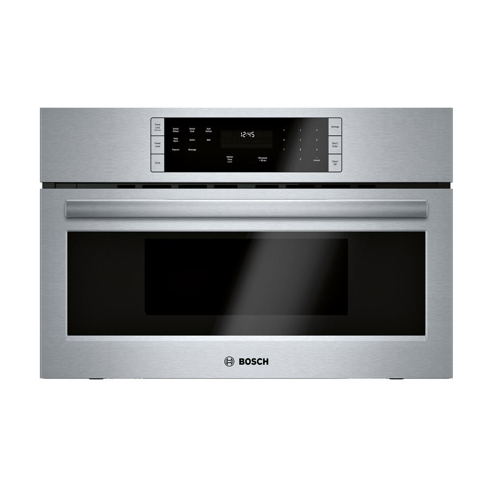 Bosch 500 Series 30 in. 1.6 cu. ft. Built-In Microwave in Stainless Steel with Drop Down Door and Sensor Cooking