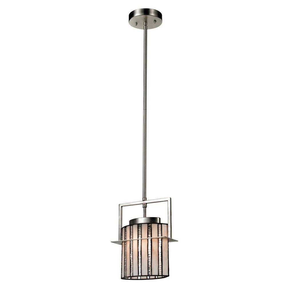 Hammond 1-Light Brushed Nickel Mini Pendant