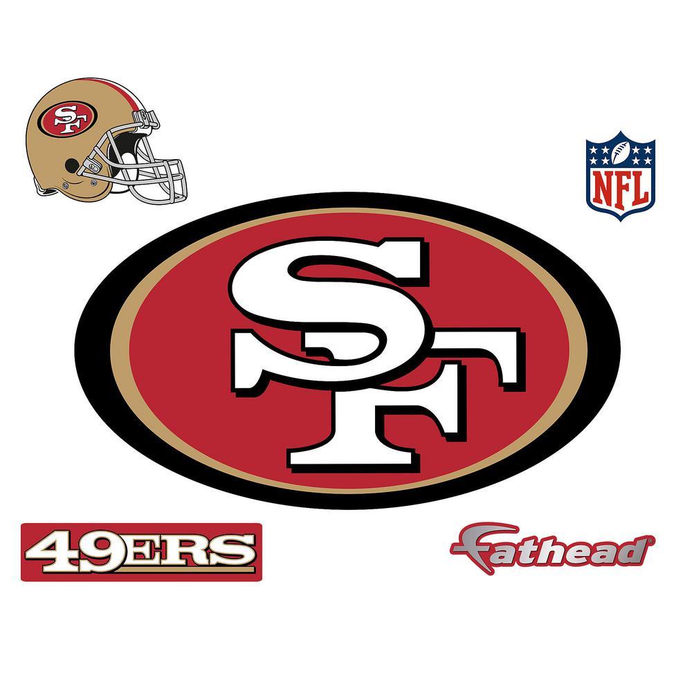 Fathead 28 in h x 48 in w san francisco 49ers logo wall mural 14 w san francisco 49ers logo wall mural voltagebd Gallery