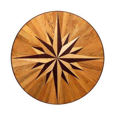 3/4 in. Thick x 24 in. Wide Circular Medallion Unfinished Decorative Wood Floor Inlay MC011