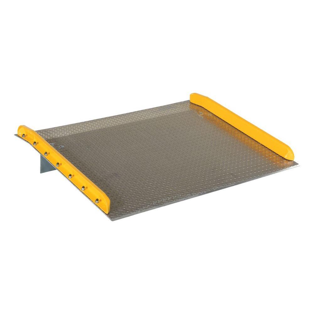 Vestil 10,000 lb. Capacity 60 in. x 48 in. Aluminum Dock Board with Steel Curb