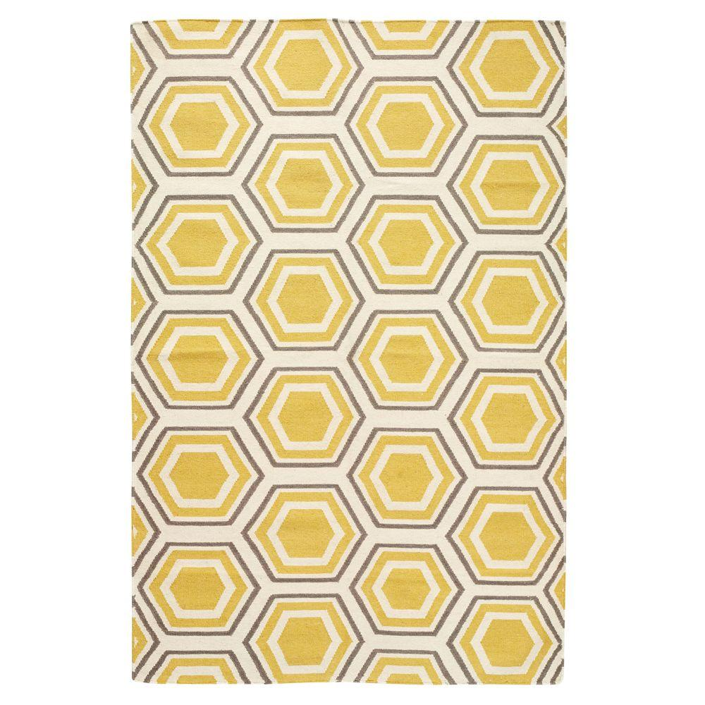 Home Decorators Collection Castleberry Gold/Grey 9 ft. x 13 ft. Area Rug