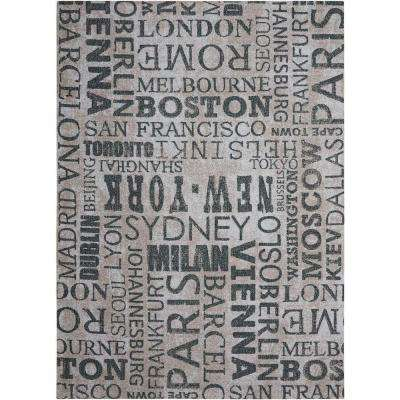 Pattern Destinations Graphite 10 ft. x 13 ft. Indoor/Outdoor Area Rug