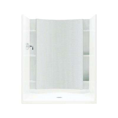 Accord 1-1/4 in. x 48 in. x 77 in. 1-piece Direct-to-Stud Shower Back Wall with Backers in White