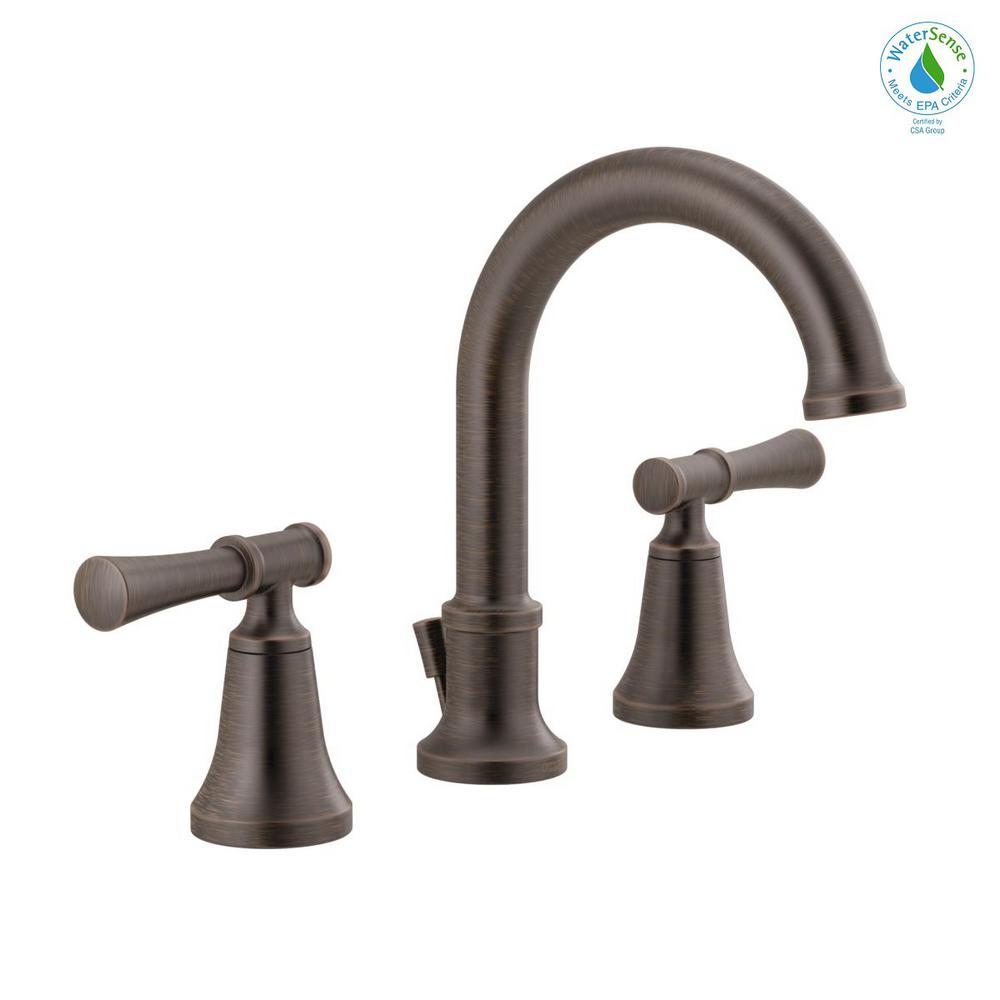 Chamberlain 8 in. Widespread 2-Handle Bathroom Faucet in Venetian Bronze