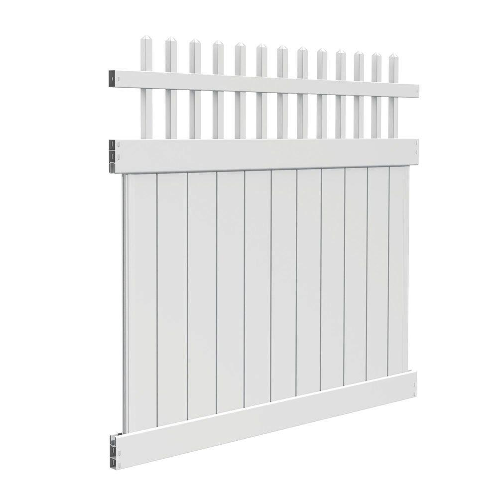 Veranda Tennessee 6 Ft H X 6 Ft W White Vinyl Fence Kit