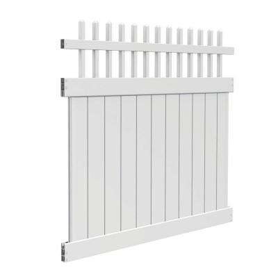 Tennessee 6 ft. H x 6 ft. W White Vinyl Fence Kit