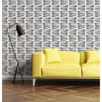 Mitchell Black Nomad Collection Zebra in Black and White Removable and Repositionable Wallpaper