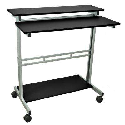 Black Adjustable Stand Up Desk