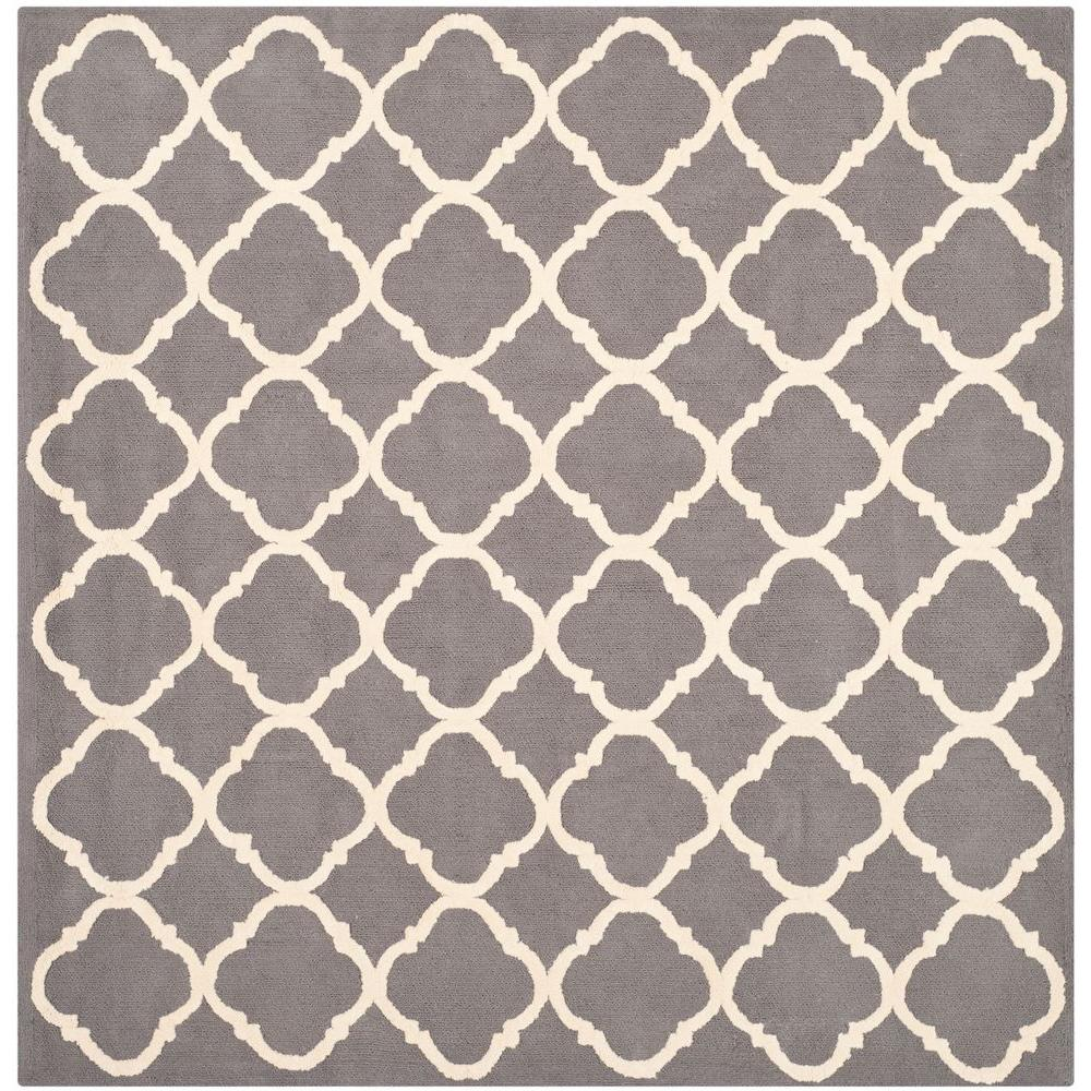 Newport Blue/Ivory 5 ft. x 5 ft. Square Area Rug