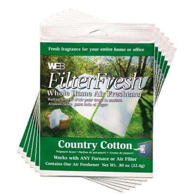 Filter Fresh Country Cotton Air Fresheners for Air Filters (6-Pack)