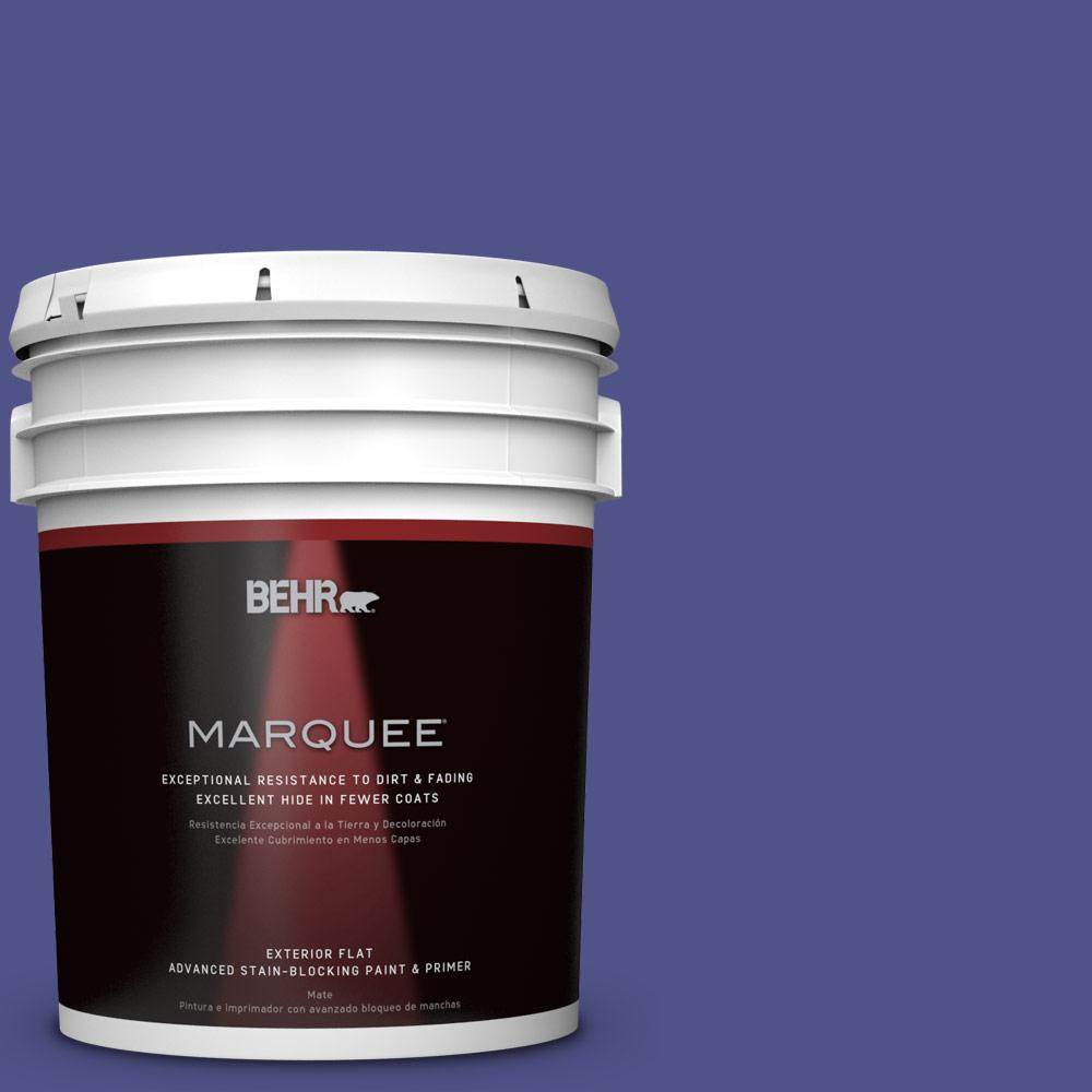 BEHR MARQUEE 5-gal. #P550-7 Purple Prince Flat Exterior Paint
