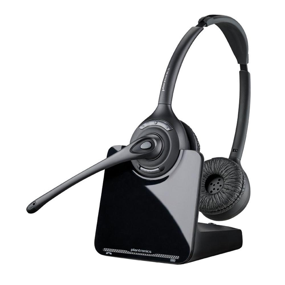 Wireless Headset Plantronics legendary CS family is setting a new wireless standard for desk phone communication with the CS500 Series. The new system features the lightest DECT headset on the market, a new streamlined design and improved performance all with the same reliability for hands-free productivity that has made the CS family a bestseller for nearly a decade. The CS500 system also enables you to conference in up to three additional headsets for easier collaboration and guest headsets can subscribe to a base by simply docking the headset.