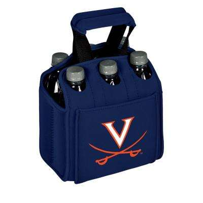 University of Virginia Cavaliers 6-Bottles Navy Beverage Carrier