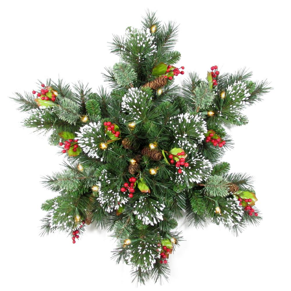 National Tree Company 32 in  Wintry Pine Snowflake with LED Lights