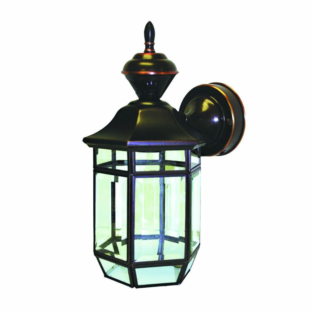 Copper outdoor wall mounted lighting outdoor lighting the 150 degree antique copper lexington lantern with clear beveled glass arubaitofo Image collections