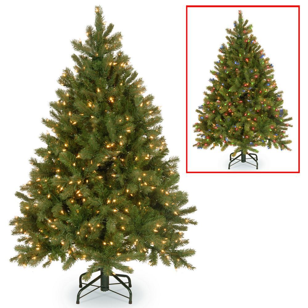 4.5 ft. Downswept Douglas Fir Artificial Christmas Tree with Dual Color LED Lights
