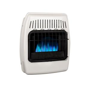 Thermostatic 10,000 BTU Blue Flame Vent Free Dual Fuel Wall Heater