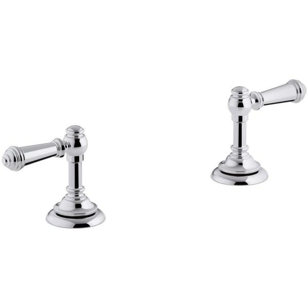 Artifacts Bathroom Sink Lever Handles in Polished Chrome
