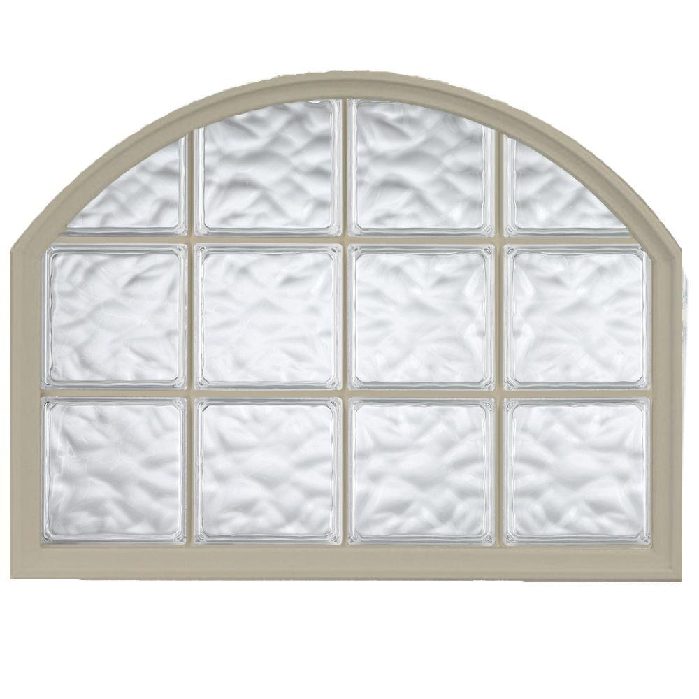 42 in. x 50 in. Acrylic Block Arch Top Vinyl Glass