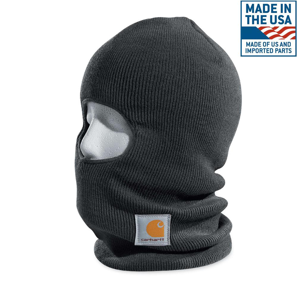 62b9b5be265c9 Carhartt Men s OFA Charcoal Heather Acrylic Face Mask-A161-CHH - The ...