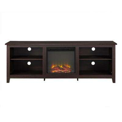 Essentials Espresso Fire Place Entertainment Center