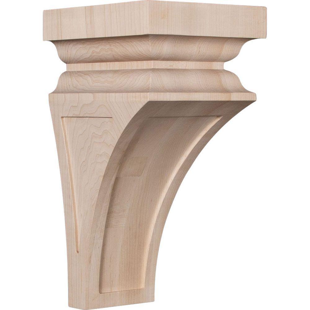 7 in. x 14 in. x 7-3/4 in. Maple Jumbo Nevio Wood Corbel