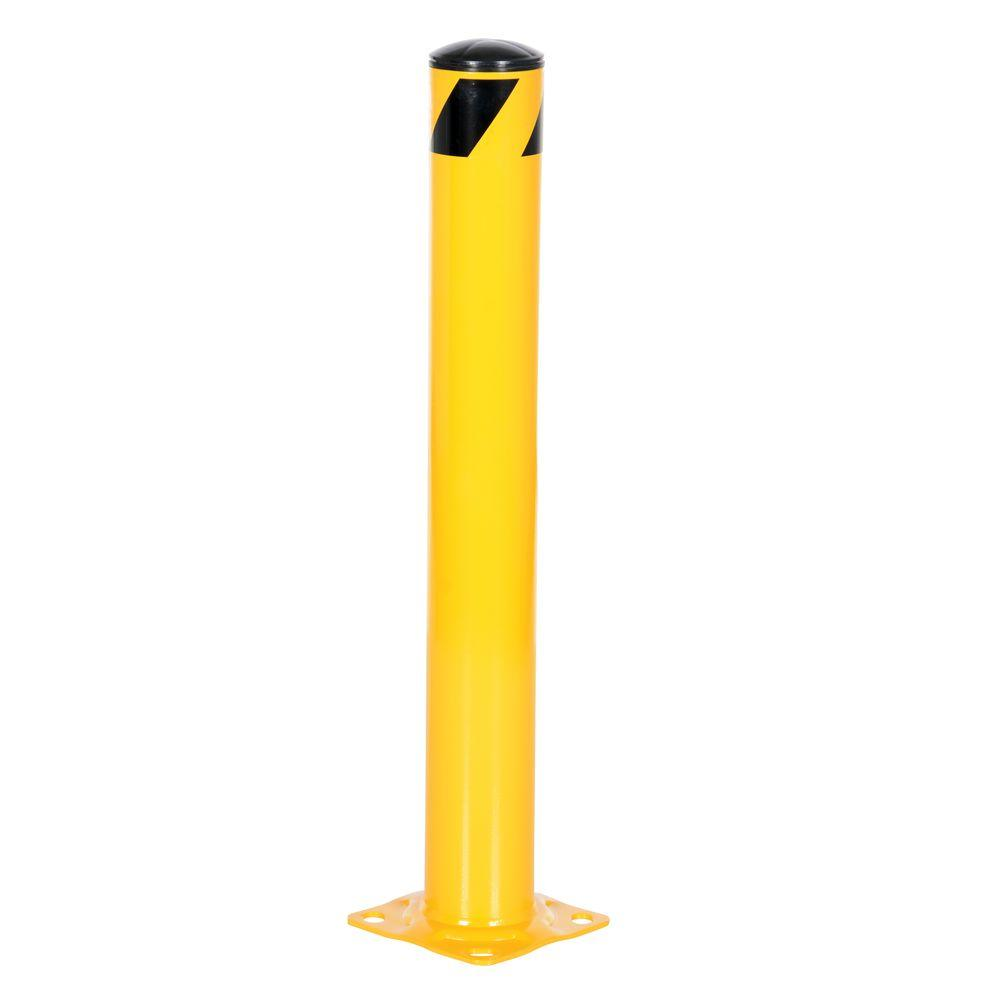 36 in X 4.5 in. Yellow Steel Pipe Safety Bollard