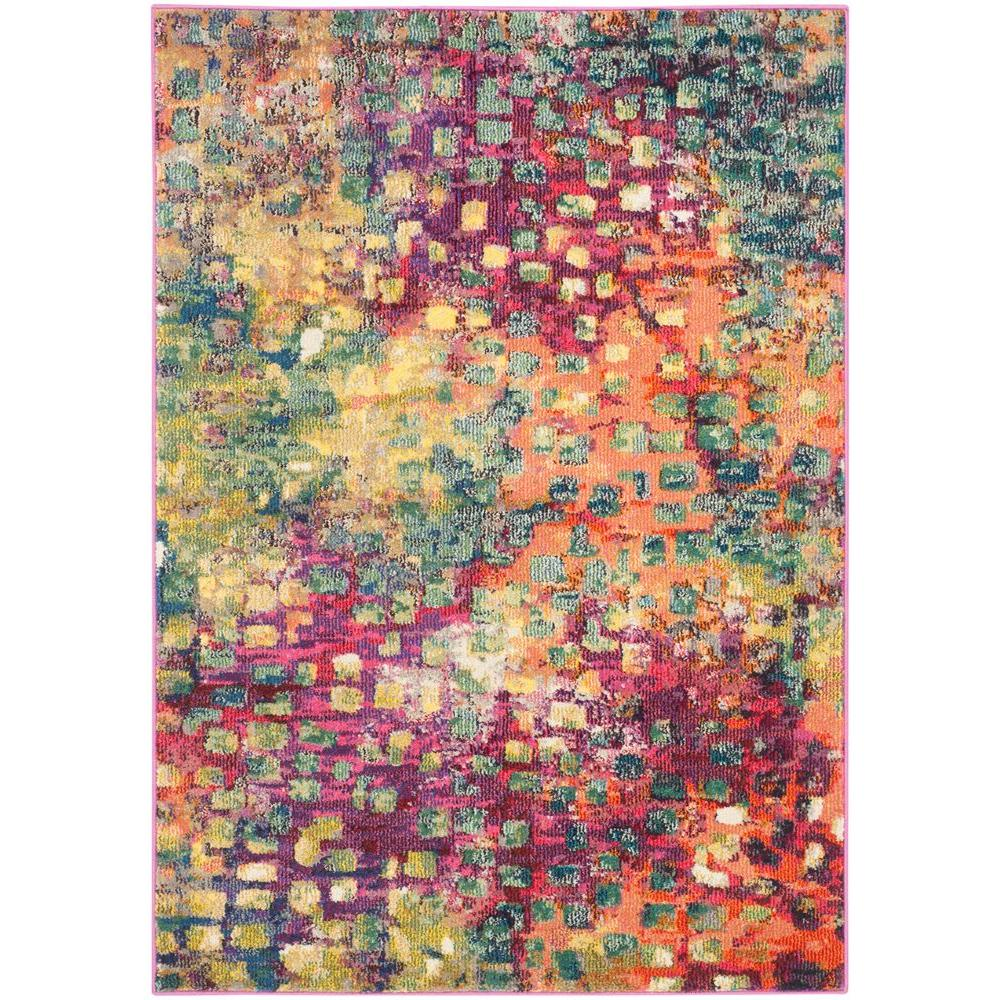 Safavieh Monaco Pink Multi 4 Ft X 6 Area Rug