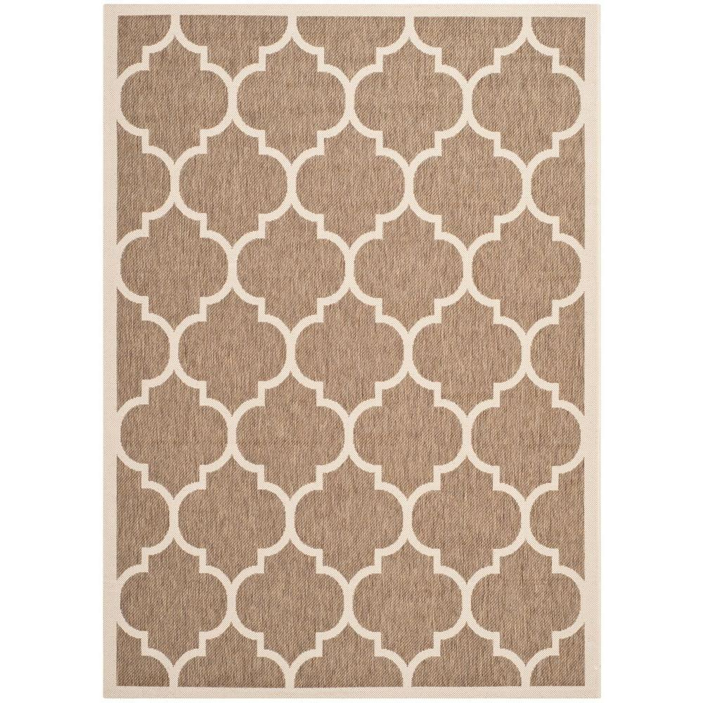 Safavieh Courtyard Brown Bone 6 Ft 7 In X 9 Ft 6 In