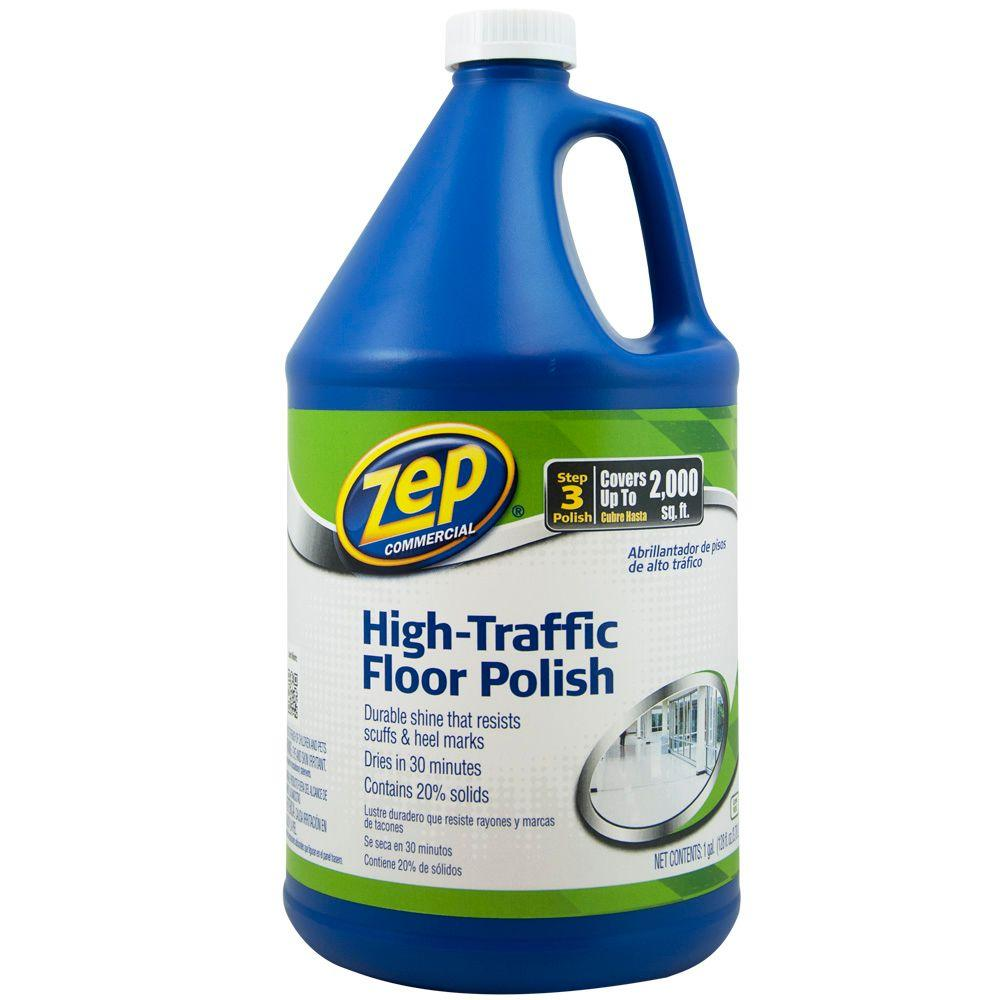 Zep 128 oz high traffic floor polish case of 4 zuhtff128 the high traffic floor polish case of 4 zuhtff128 the home depot dailygadgetfo Image collections