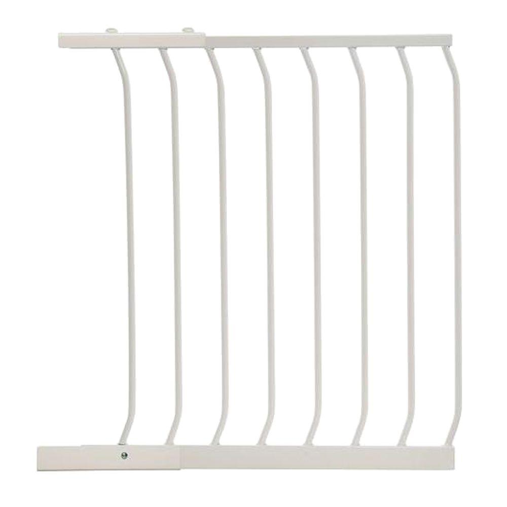 24.5 in. Gate Extension for White Chelsea Standard Height Child Safety
