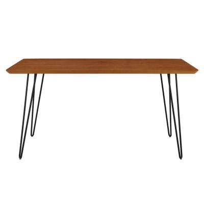 60 in. Walnut Hairpin Leg Dining Table