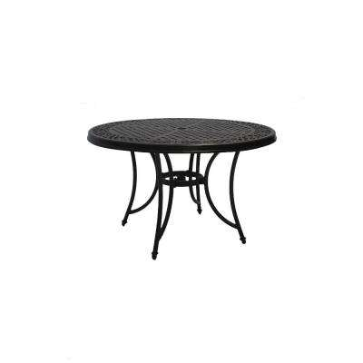 Round Cast Top Patio Dining Table
