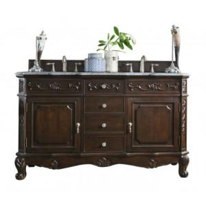 James Martin Signature Vanities Costa Blanca 60 inch W Double Vanity in Burnished Mahogany with Marble Vanity Top in... by James Martin Signature Vanities