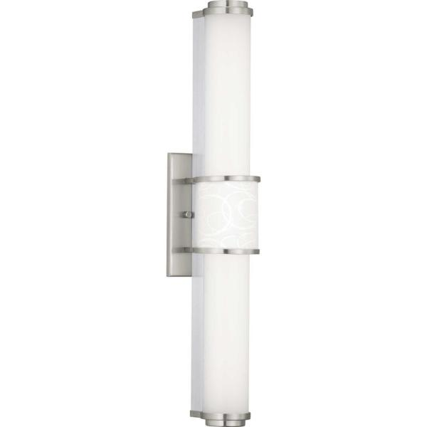 Progress Lighting Phase 1 2 Led Collection Brushed Nickel Integrated Led Vanity Light P300205 009 30 The Home Depot