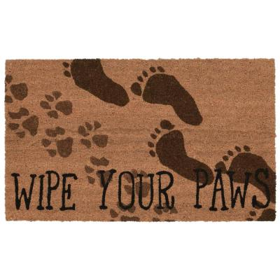 Natura Wipe Your Paws 18 in. x 30 in. Natural Outdoor Mat