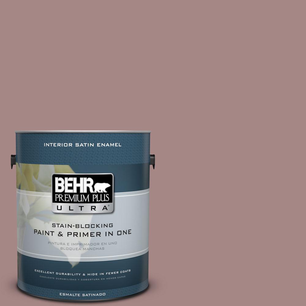 BEHR Premium Plus Ultra 1-gal. #120F-4 Blackberry Mocha Satin Enamel Interior Paint
