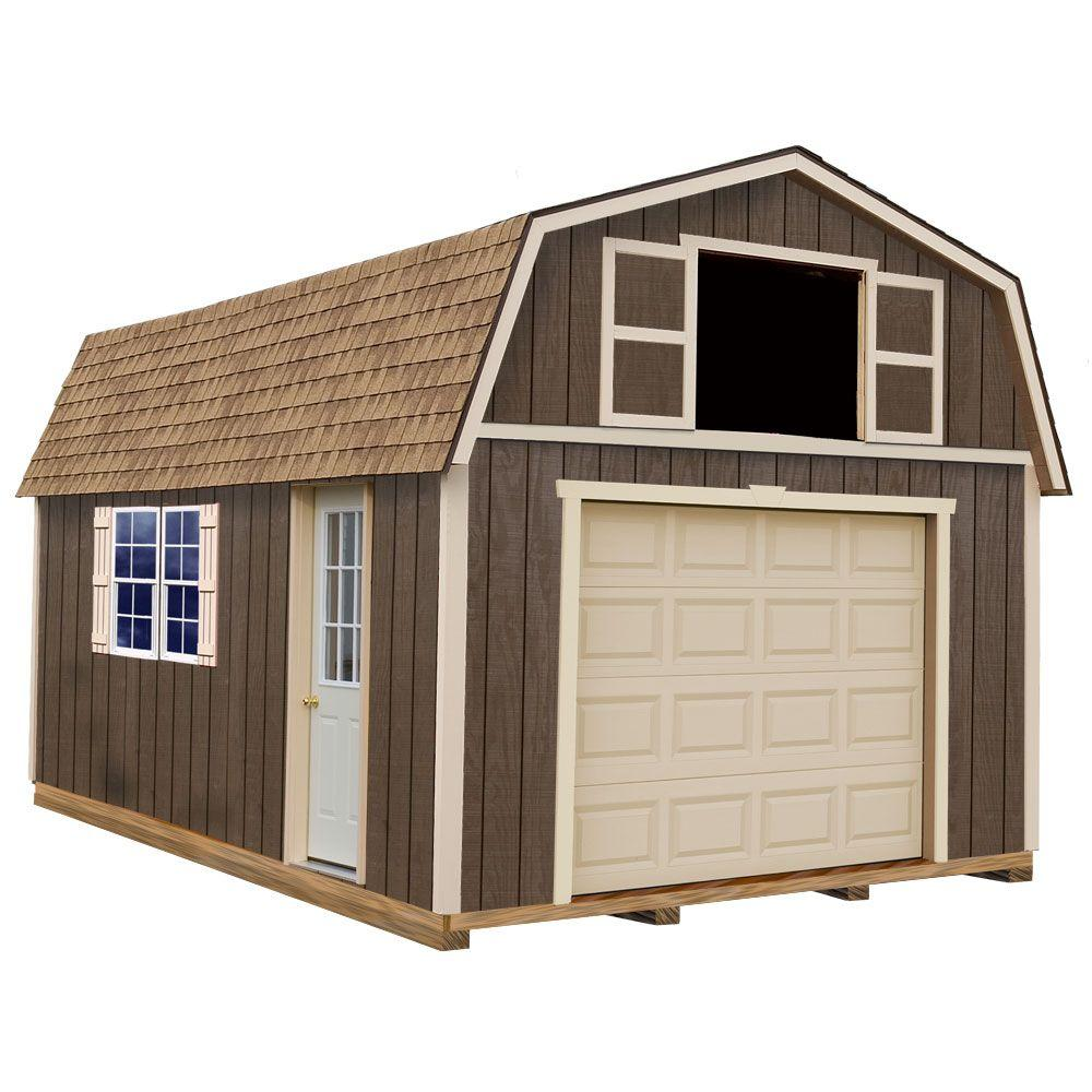 Best Barns Tahoe 12 ft. x 16 ft. Wood Garage Kit with Sturdy Built Floor