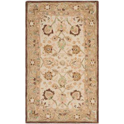 Anatolia Ivory/Brown 3 ft. x 5 ft. Area Rug