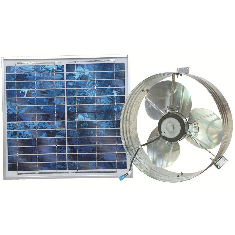 Ventamatic 433 Cfm Solar Powered Gable Mount Power Attic