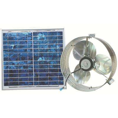 1000 CFM Solar Powered Gable Mount Power Attic Ventilator
