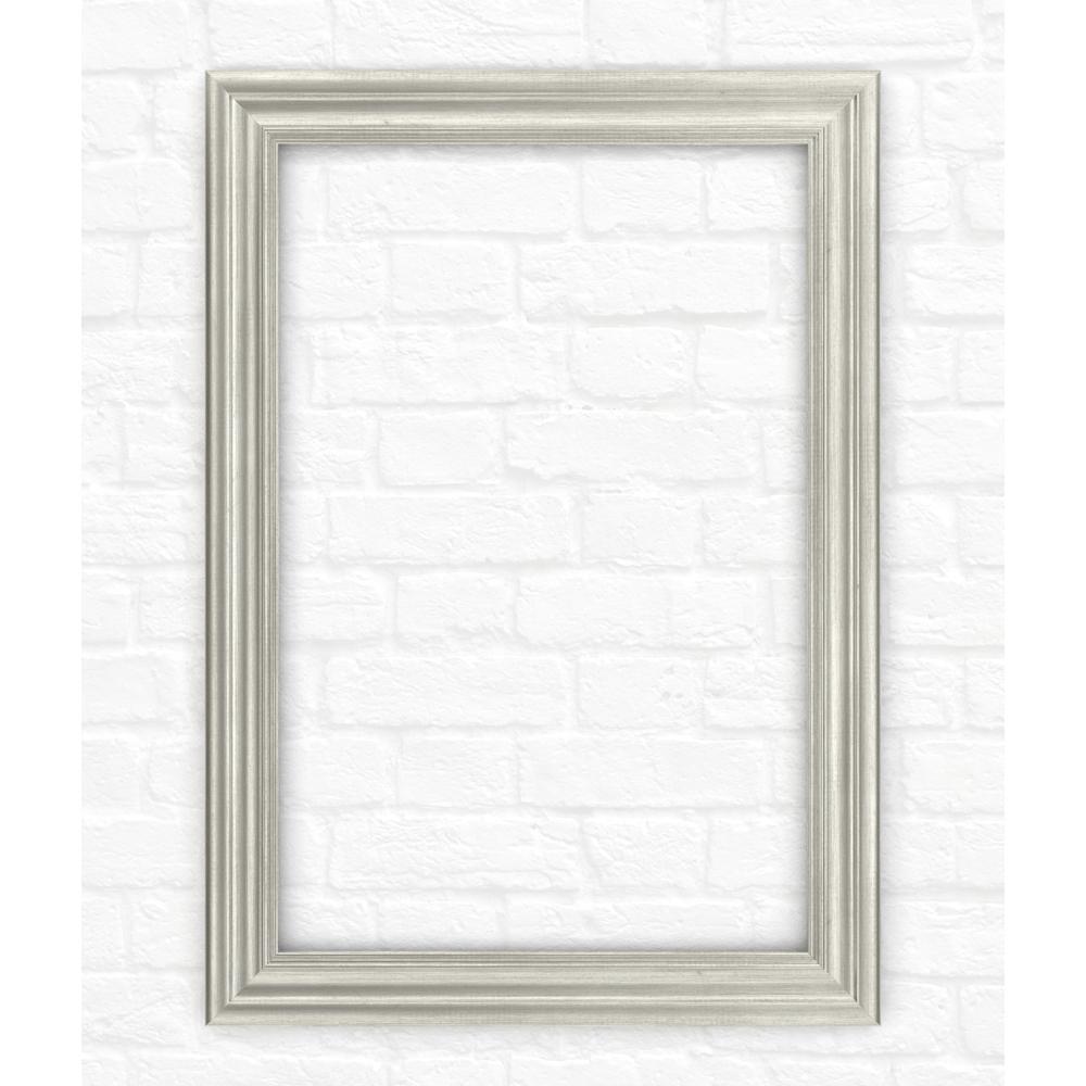 33 in. x 47 in. (L1) Rectangular Mirror Frame in Vintage Nickel