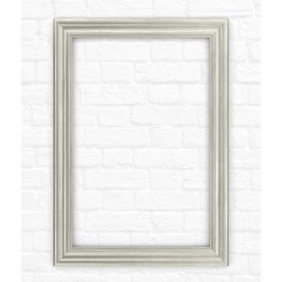 33 in. x 47 in. (L1) Rectangular Mirror Frame in Vintage Nickel