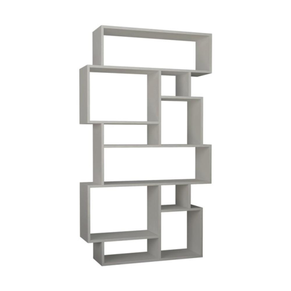 Berkshire White Mid-Century Modern Bookcase
