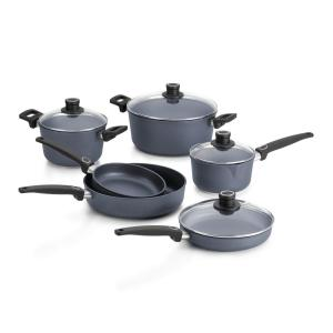 Woll Diamond Lite Cast 10-Piece Gray Cookware Set with Lids by Woll