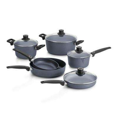 Diamond Lite Cast 10-Piece Gray Cookware Set with Lids