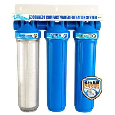 EZ-Connect Compact Whole House Water Dispenser Filtration System and Softener Combo