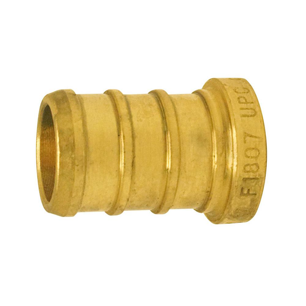 1/2 in. Brass PEX Barb Plug (5-Pack)