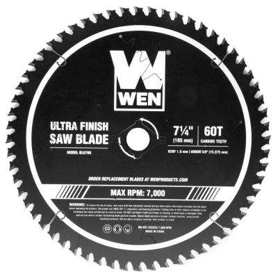 7.25 in. 60-Tooth Carbide-Tipped Professional Ultra Fine-Finish Circular Saw Blade with Cool-Cut Coating